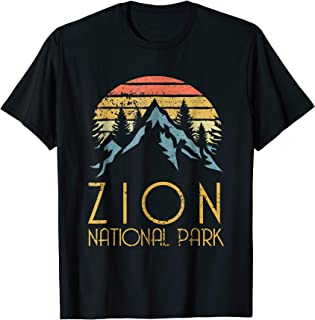 Vintage Retro Zion National Park Utah T Shirt