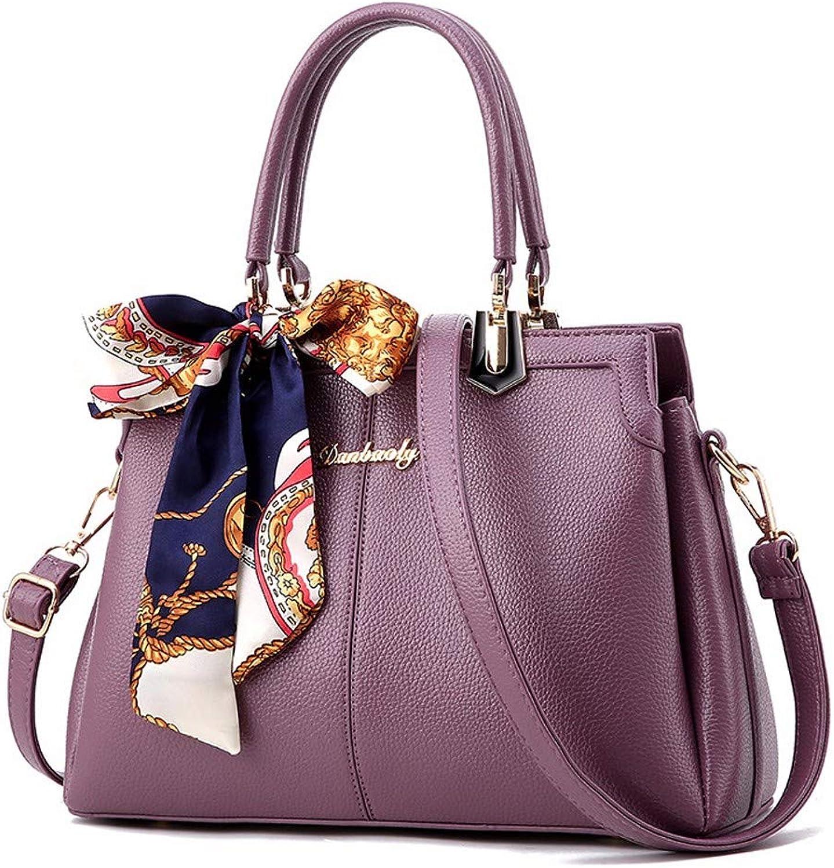 Qiruian Damen Handtaschen Handtaschen Handtaschen Tote Tasche Messenger Mode Umhängetasche Schultertaschen PU Leder Crossbody Bogen B07Q83317Q  Vielfalt 7b039c