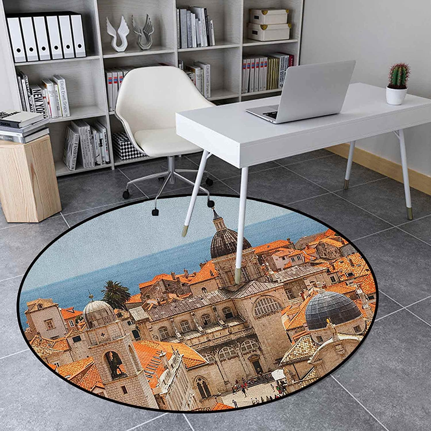 European favorite Area Rug Round 4.6 Ft Great interest Home Mat Floor Decor Inches Soft