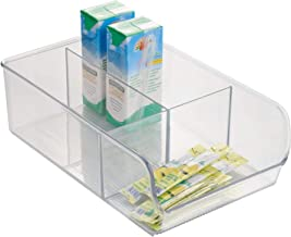 iDesign Linus Plastic Fridge and Freezer Divided Storage Organizer Bin, Container for Food, Drinks, Snacks, Produce Organization, 11