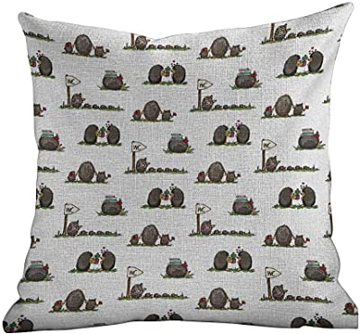Amazon.com: the pillow collection Feryal Dot Berry relleno ...