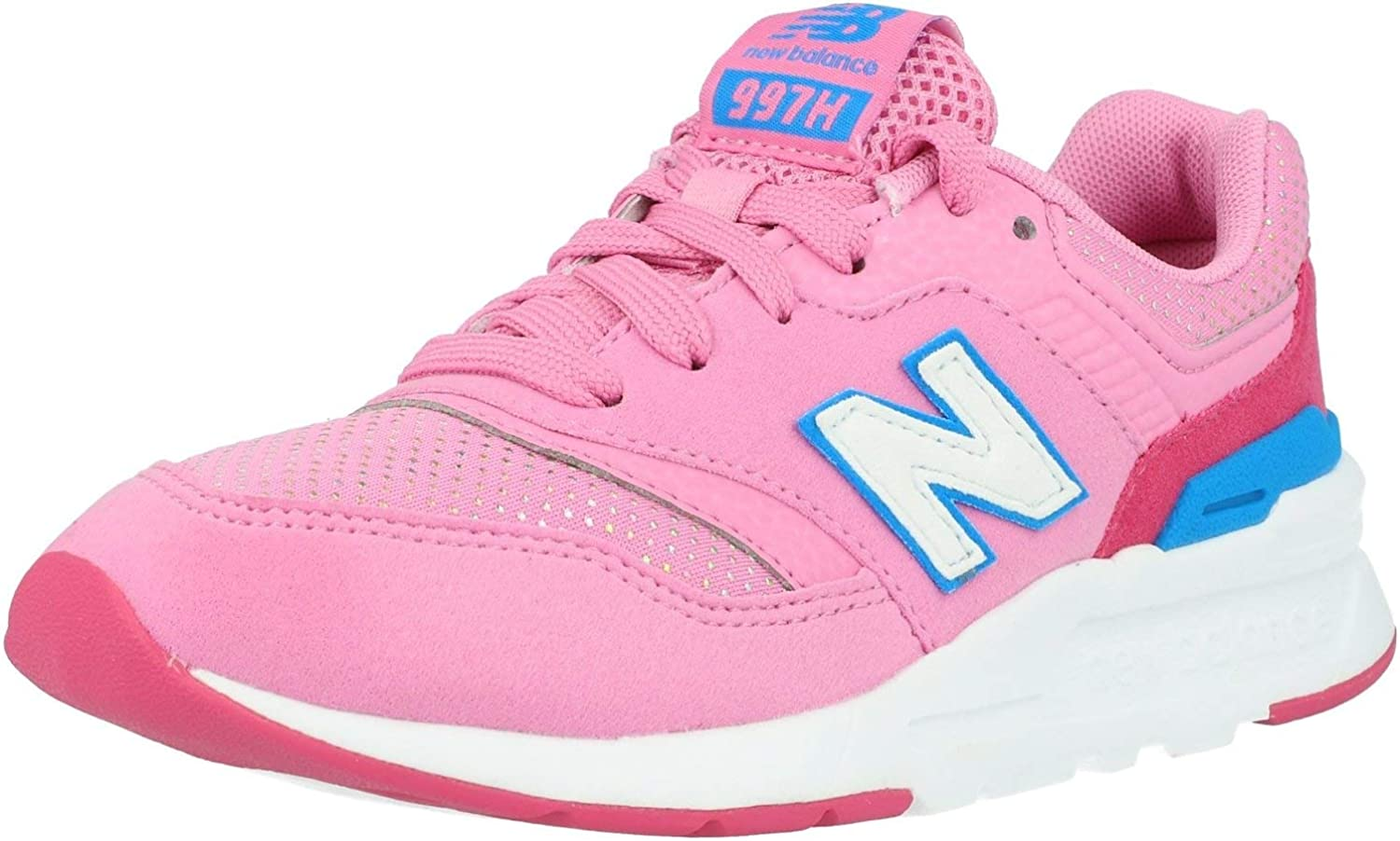 New Balance 997H Candy Pink/Exhuberent Pink Suede Child Trainers Shoes