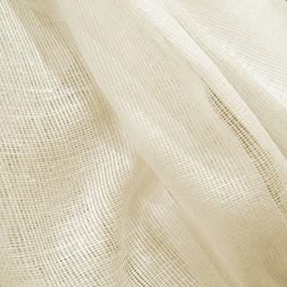 60 Yards Natural Unbleached Tobacco Cloth Natural Cotton Fabric Lightweight for Wedding Decor by JCS