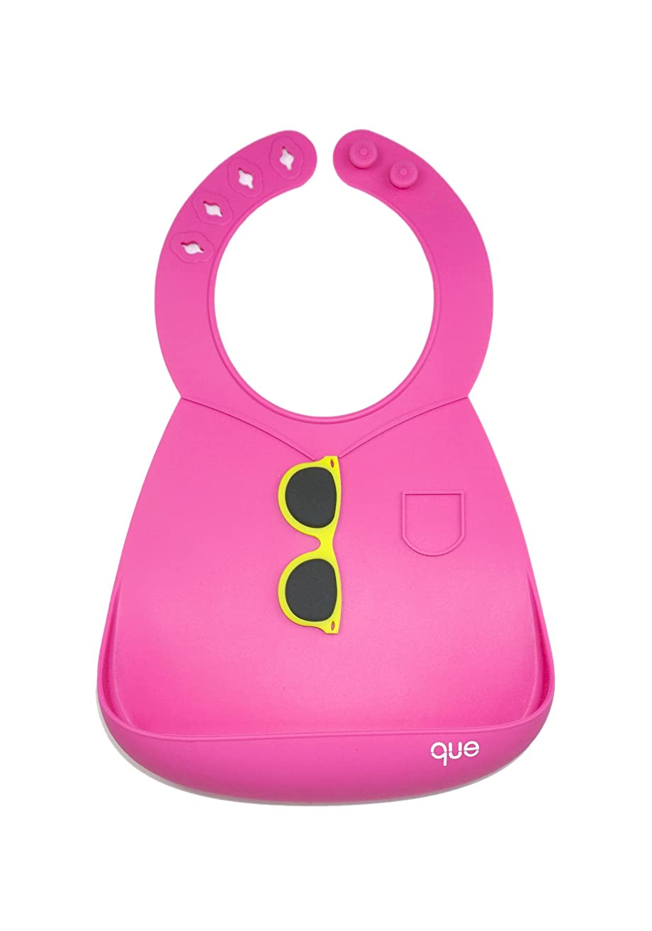 BPA-Free, Waterproof, Soft & Adjustable Silicone Baby Bibs Lightweight, durable, easy to clean! que Bib