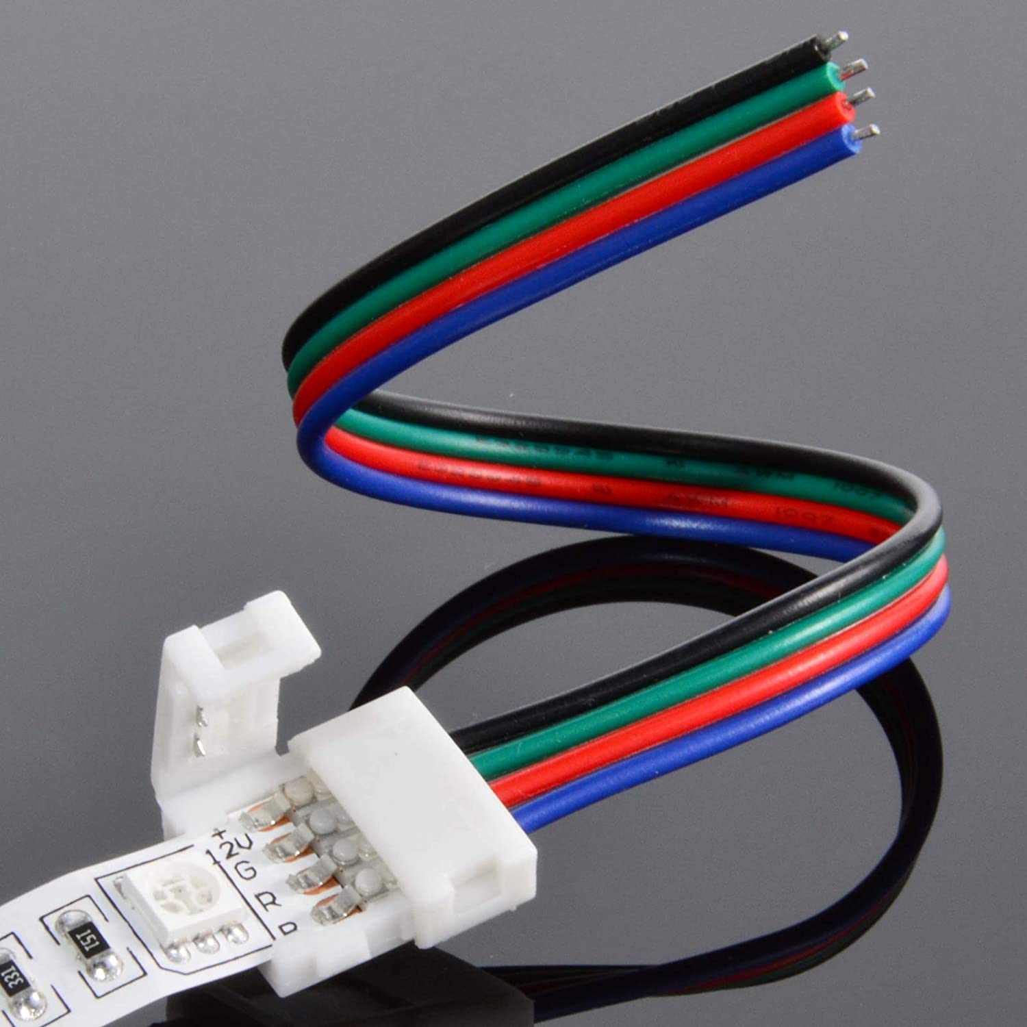 Detroit Mall ABI 10mm Solderless 4-Wire Connector Clip for 5050 LED Strip RGB Popular popular