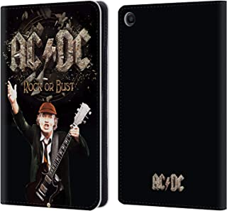 Official AC/DC ACDC Rock Or Bust Song Titles Leather Book Wallet Case Cover Compatible for Xiaomi Mi Pad 4 Plus