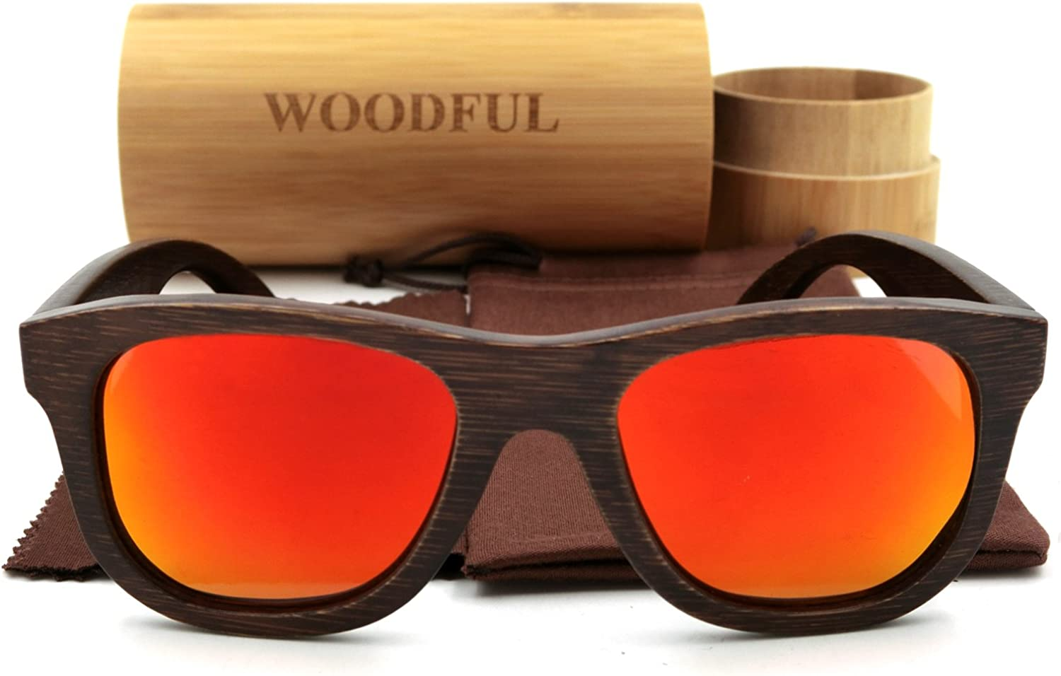 Bamboo Polarized SunglassesBrown color Wooden Glasses with Sunglasses Packaging