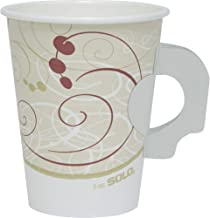 product image for SOLO Cup Company - Hot Cups, Symphony Design, 8oz, w/Handle, Beige, 50/Pack 378HSMSYMPK (DMi PK