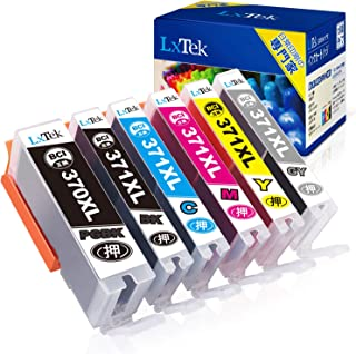 LxTek Canon用 インク キャノン対応 6色セット BCI-371XL+370XL 6MP