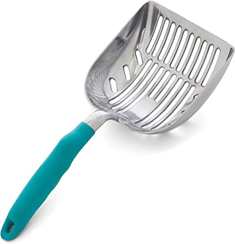 DuraScoop Jumbo Cat Litter Scoop, All Metal End-to-End with Solid Core, Sifter with Deep Shovel, Multi-Cat Tested Acc...