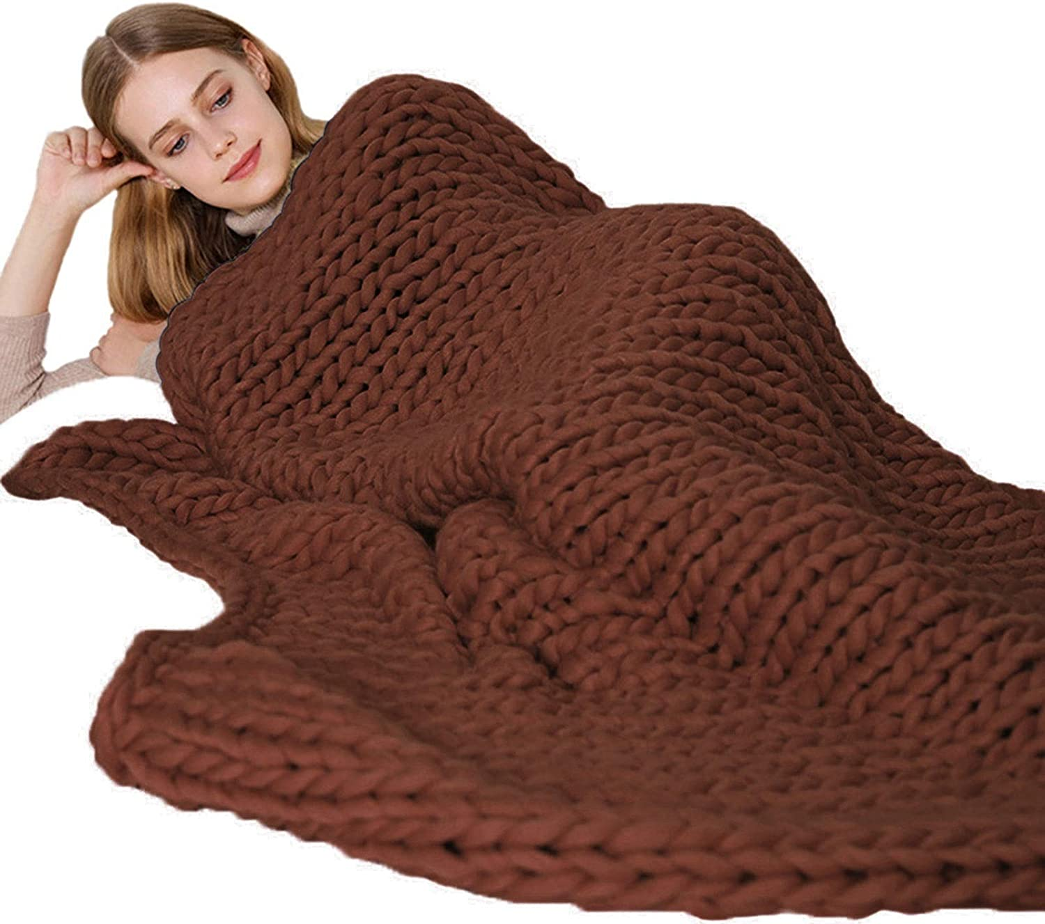 Handmade Giant Soft Thick Chunky Knitted Bed Large special price Sale Special Price Throw Blanket Cozy