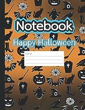 Composition Notebook: Happy Halloween symbols ver.2: Composition Notebook: Primary composition notebook grades k-2, Wide R...