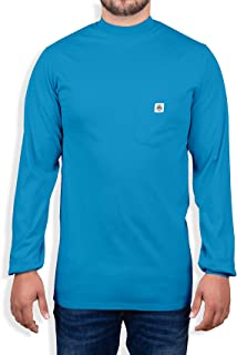 Fire Resistant 7 oz. Cotton Long Sleeve Henley - FR T-Shirt Defies Melting, Dripping, After-Burning - Fire Retardant Cloth...