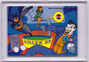 1993 Batman the Animated Series 1 Vinyl Mini Cell Trading Card - Batman vs. Joker