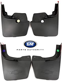 General Motors 2015-2018 Colorado Molded Splash Guard Package 22958431 23278169 Black OEM GM