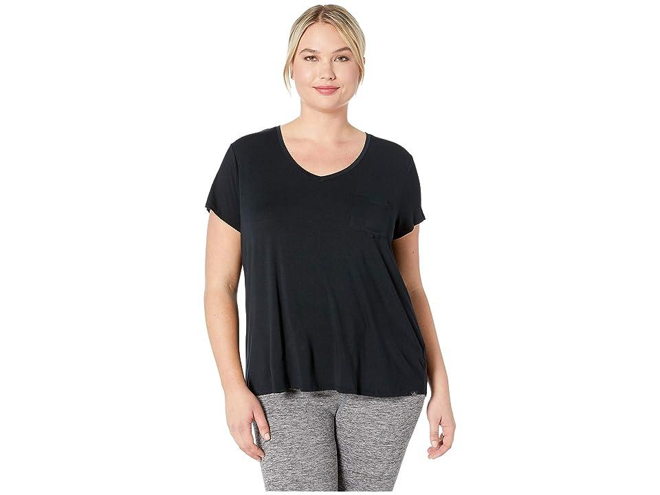 Prana Plus Size Cozy Up T-Shirt (Charcoal Heather) Women