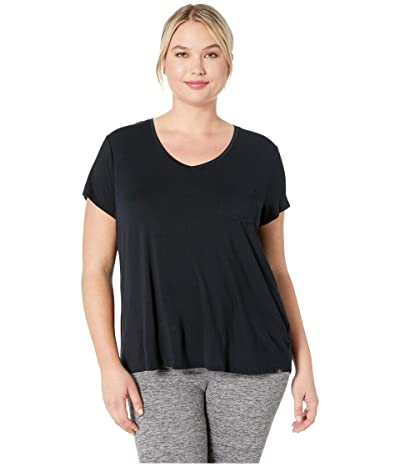 Prana Plus Size Cozy Up T-Shirt (Charcoal Heather) Women