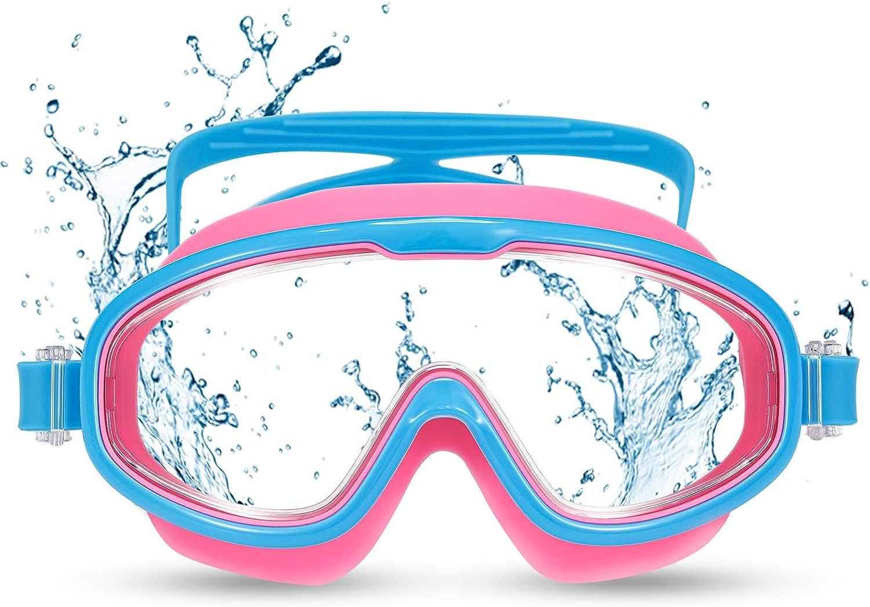 Funní Día Gafas de natación Gafas Natacion para niños y gafas de sol polarizadas, antivaho, gafas de natación con protección UV Gafas Natacion para niños