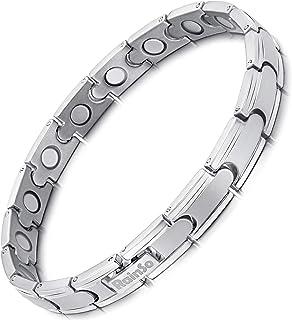 Rainso Bracciale Da Donna, Bracciale Magnetico Acciaio al titanio, Elegante Bracciale Magnetico Da Donna, Sollievo Dal Dol...