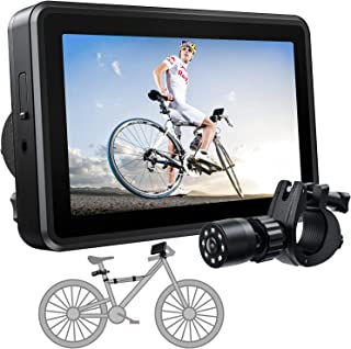 FEISIKE Handlebar Bike Mirror, Bicycle Rear View camera with 4.3'' HD Night Vision Function, 145°...