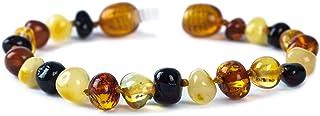 J's Amber - Braccialetto/cavigliera in 100% ambra baltica originale, misure 11cm, 12 cm, 13 cm, 14 cm, 15 cm, 16 cm, 17 cm...
