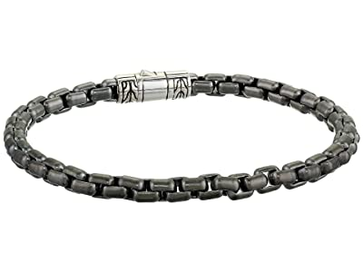 John Hardy Classic Chain Chain Bracelet with Pusher Clasp (Black) Bracelet