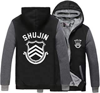 Nsoking Anime Persona 5 Ren Amamiya for Peluca Adult Men Fleece Hoodie Thick Winter Jacket Coat