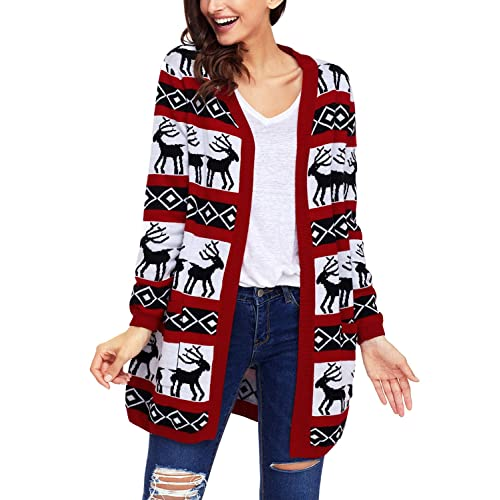 Christmas Cardigan Sweaters.Womens Christmas Cardigans Amazon Co Uk