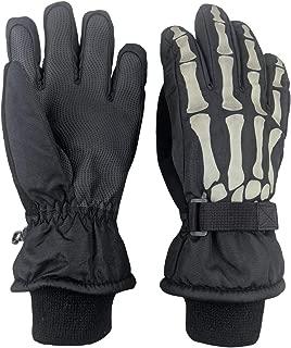 Kids Glow in the Dark Skeleton Waterproof Thinsulate Gloves