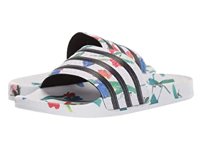 adidas Adilette (Footwear White/Core Black/Footwear White) Women