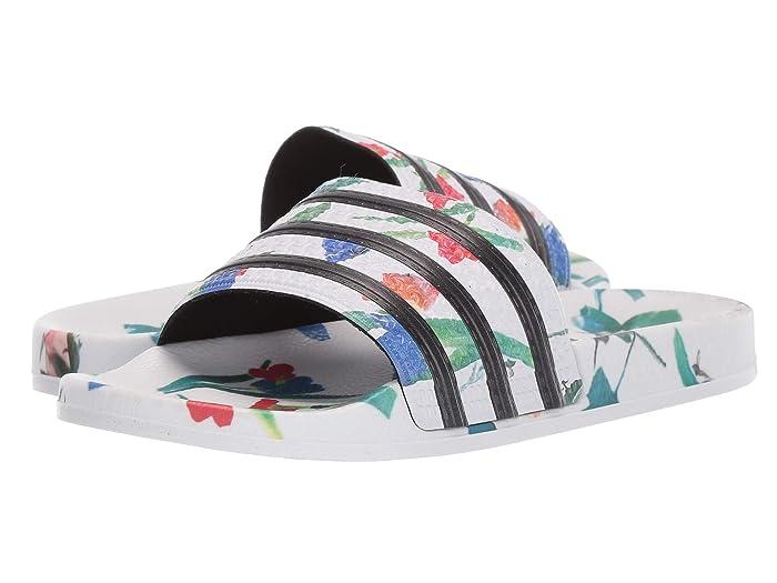 adidas  Adilette (Footwear White/Core Black/Footwear White) Womens Slide Shoes