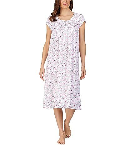 Eileen West Cap Sleeve Long Nightgown (Viney Floral) Women