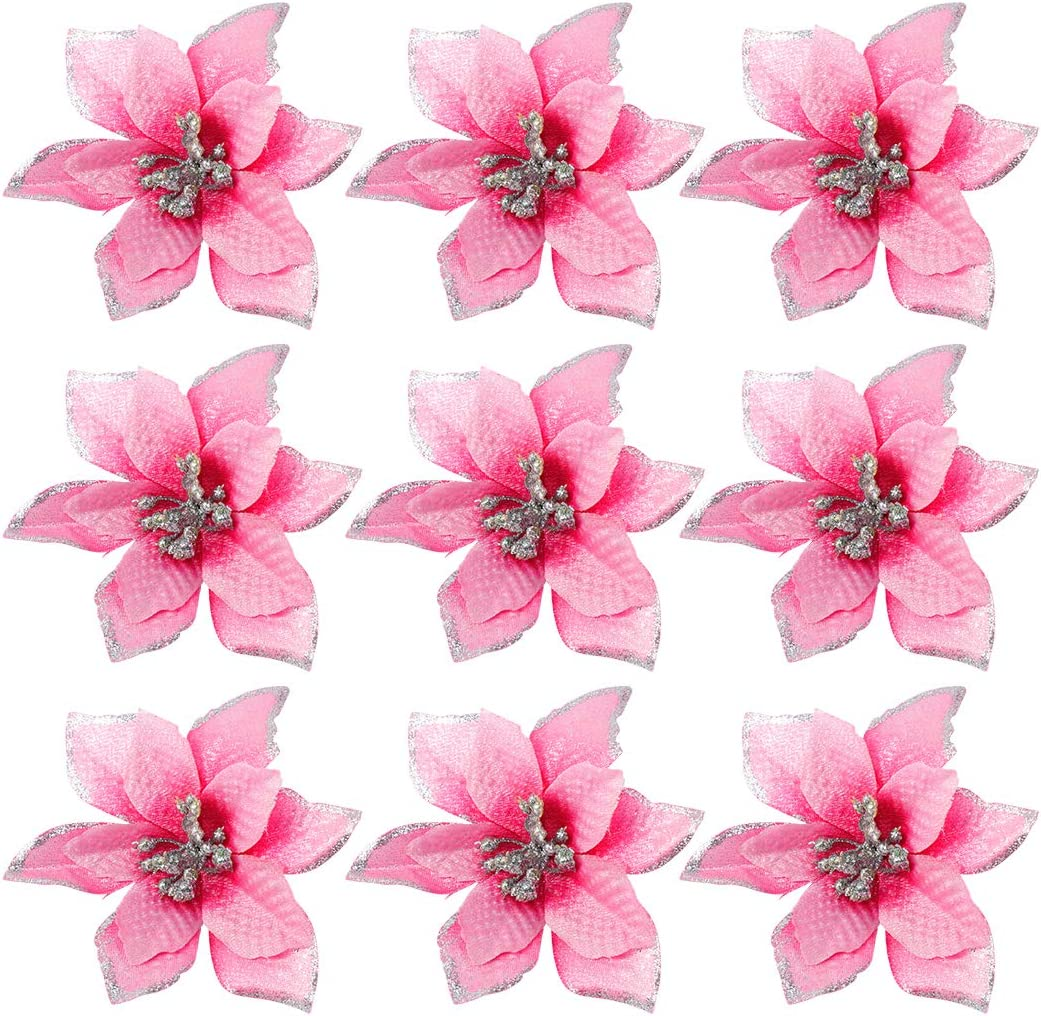 Sale SALE% OFF Healifty 24pcs Christmas Flower Simulation Ch Powder Large special price Gold