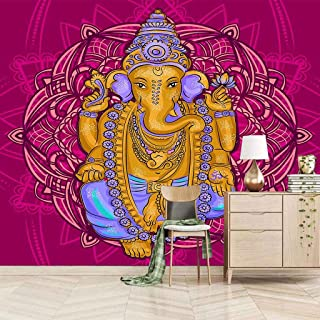 VITICP Adults Kids Wall Stickers Decals Peel and Stick Removable Wallpaper Golden Elephant Sculpture for Nursery Bedroom L...