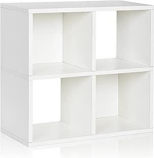 Way Basics 4 Cubby bookcase, White