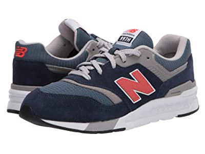 New Balance Kids 997H Essentials (Big Kid) (Natural Indigo/Neo Flame) Boys Shoes
