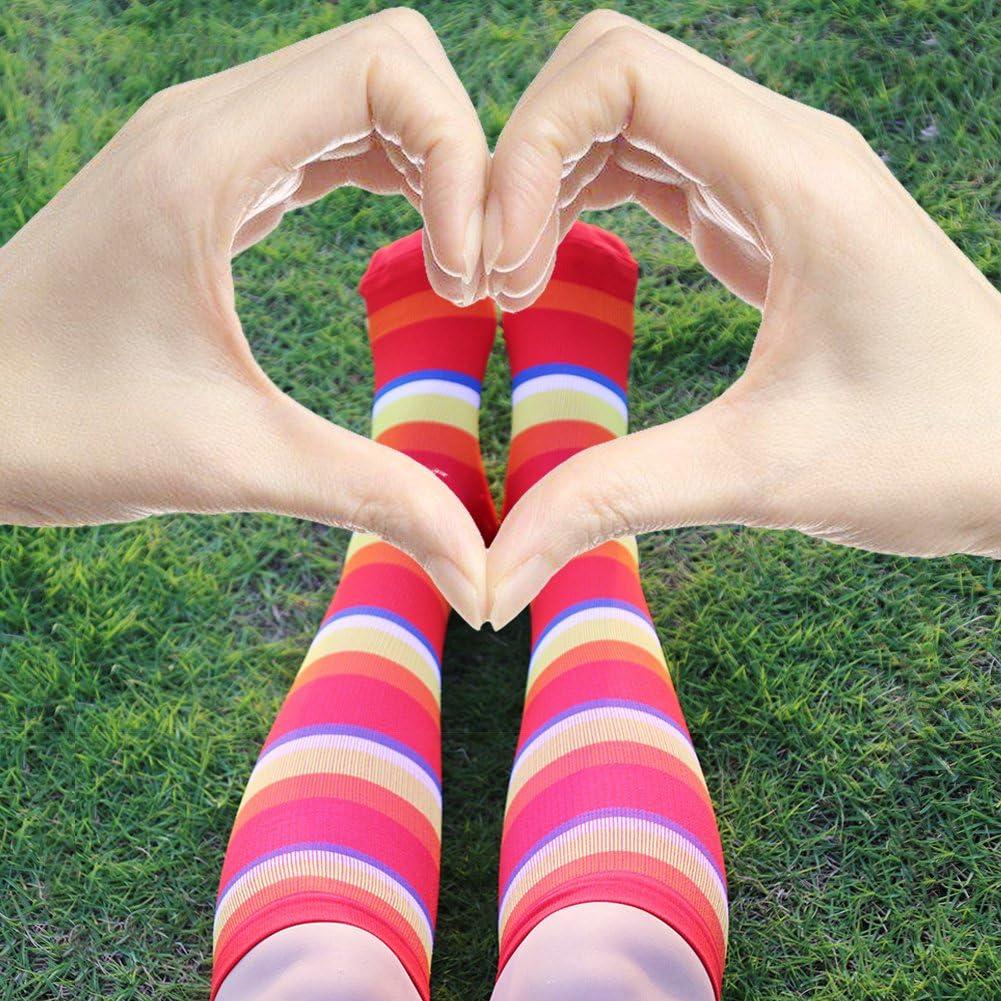 Flight Travel Compression Stockings for Running Nurse HLTPRO 20-30 mmHg Compression Socks Women /& Men