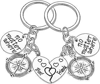 Friends Gift Best Friends No Matter Where Keychain Long Distance Friendship Keyring