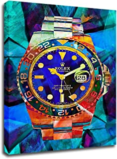 Canvas Wall Art Rolex Watches pop Art Canvas HD Modern Abstract Art Print Poster Office Bedroom Cafe Decoration with Frame
