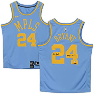 Kobe Bryant Los Angeles Lakers Autographed Minneapolis Lakers Blue Jersey with