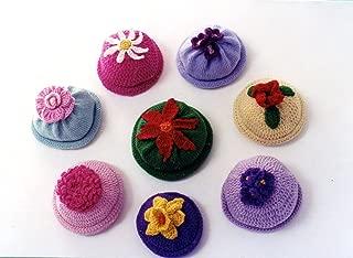 Kid's Flower Caps - Ann Norling Knitting or Crochet Pattern #22 - 6 months (1 yr, 2 yrs)