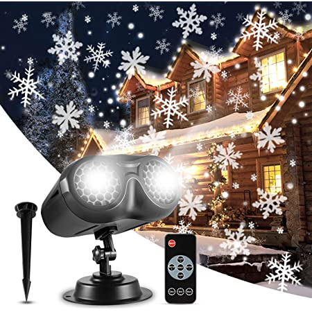 Details about  /New LED 12 Patterns Moving Snowflakes Projector Christmas Garden Decoration DIY