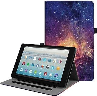 Fintieケースのまったく新しいAmazon Fire HD 10タブレット(第7世代、2017年リリース)–[マルチアングルViewing ]フォリオスタンドカバーポケットAuto Wake/Sleep EKAJ113US