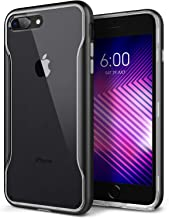 Caseology Apex Clear for Apple iPhone 8 Plus Case (2017) / for iPhone 7 Plus Case (2016) - Slim & Transparent - Black