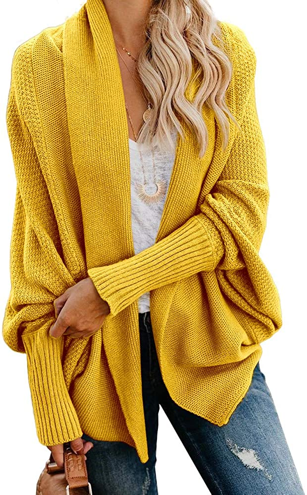 Imily Dedication Bela Women's Super popular specialty store Kimono Batwing Cable Slouchy Knitted Oversize