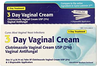 Clotrimazole 3 -Day Vaginal Cream - 0.74 Oz (Pack of 2)