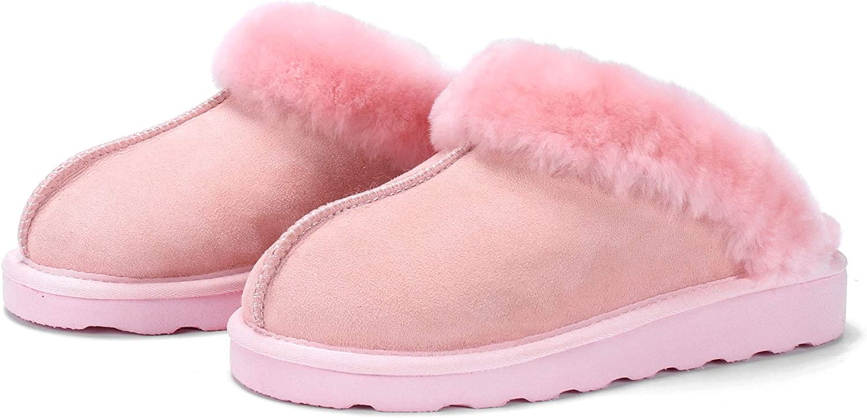 L.A.M.B. Lamm Woherrar Woherrar Woherrar Genuine läder Scuff Australian Sheepsky Collar Slippers  kostnadseffektiv