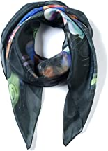 Invisible World Women`s 100% Silk Scarf Hand Painted Square