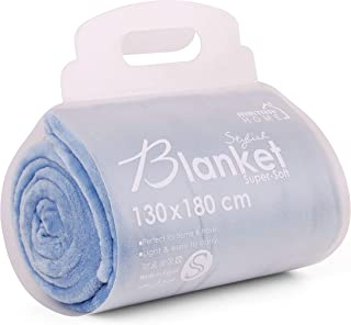 Mintra Home Blanket - Super Soft, 100% Polyester (Blue, 51in x 70in (Small)) Lightweight Warm Fleece Blanket/Throw/Bed Cov...
