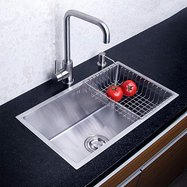 Edelstahl-Einzelschüssel-Quadrat-Einsatz-Spülbecken verdickt groe Kapazitt langlebiges Waschbecken Küchenspülen